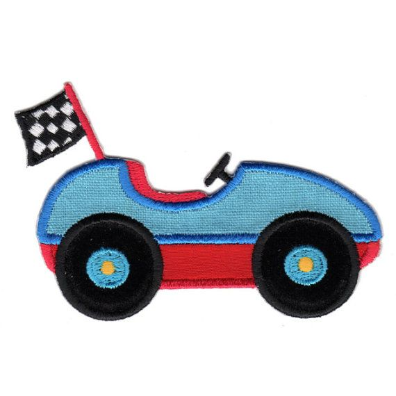 Race Car Iron On Applique Patch Kids Baby Patches Cars And Iron
