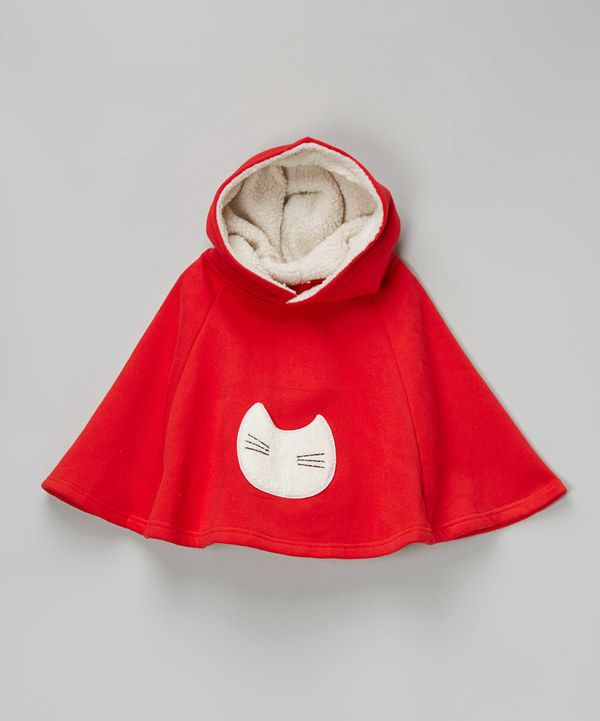 Look at this Leighton Alexander Red Cat Hooded Cape - Infant on #zulily today!