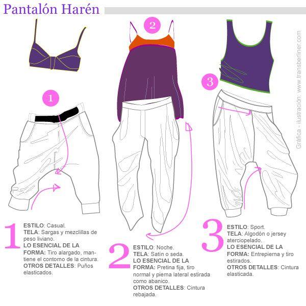 Pantalón de harén | Naynai | Pinterest | Pantalones, Pantalones ...