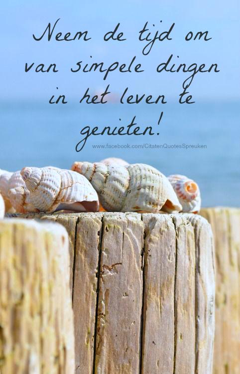 spreuken over genieten van het leven neem de tijd om van simpele dingen in het leven te genieten | Mooi  spreuken over genieten van het leven