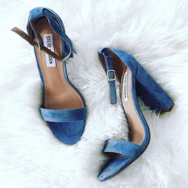 4ab32e12b97 Steve Madden Carrson Block Heels | High heels!!!! | Shoes, Bridal ...