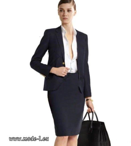 kostüm damen dunkelgrau business