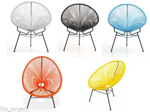 fauteuil chaise fil mexico acapulco scoubidou jardin et. Black Bedroom Furniture Sets. Home Design Ideas