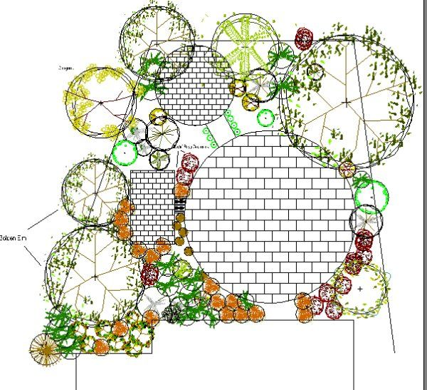 Vegetable garden design drawing country for Landscape plan drawing
