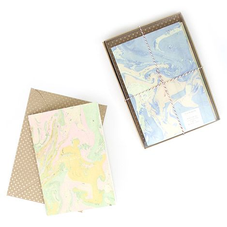 Marbled Card Set // The Knew New