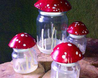 Small Mushroom Stash Jar, Glass Nug Jug with seal