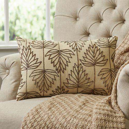Magnificent Leaf Tracing Lumbar Pillow Cover Birchlane Pillows Inzonedesignstudio Interior Chair Design Inzonedesignstudiocom