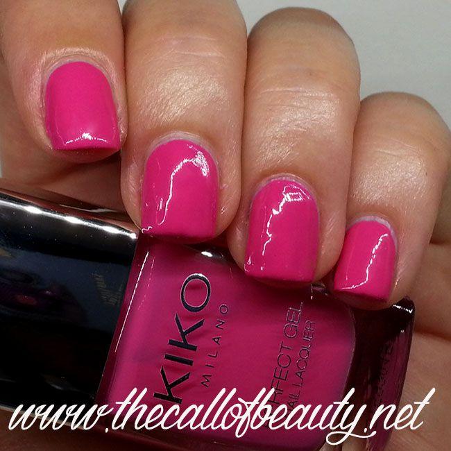 Nail Swatch: Kiko Perfect Gel Duo 674 Fuchsia | nail art | Pinterest ...