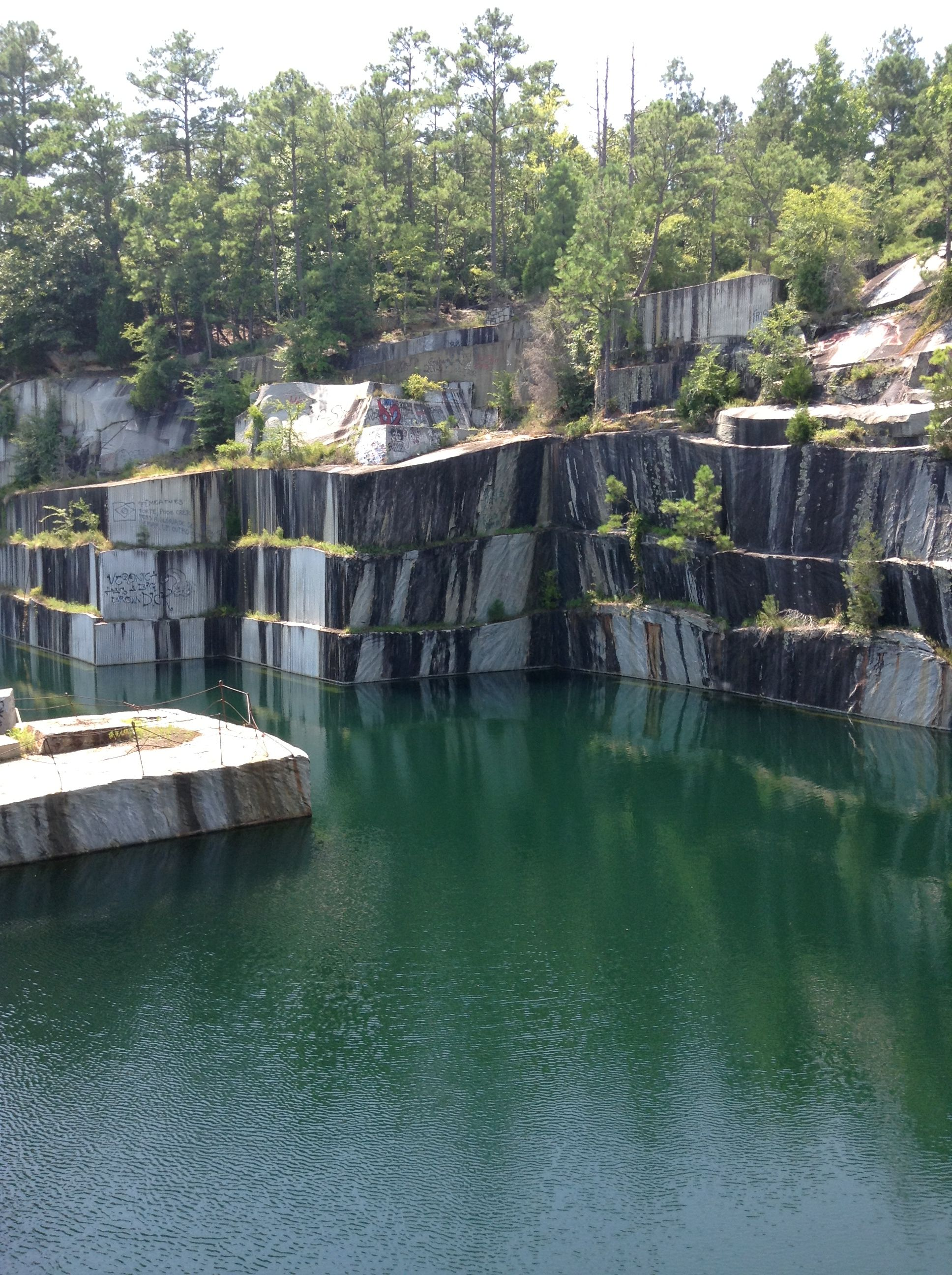 Rock Quarry near Monticello Lake  Cliff jumping into a 300ft