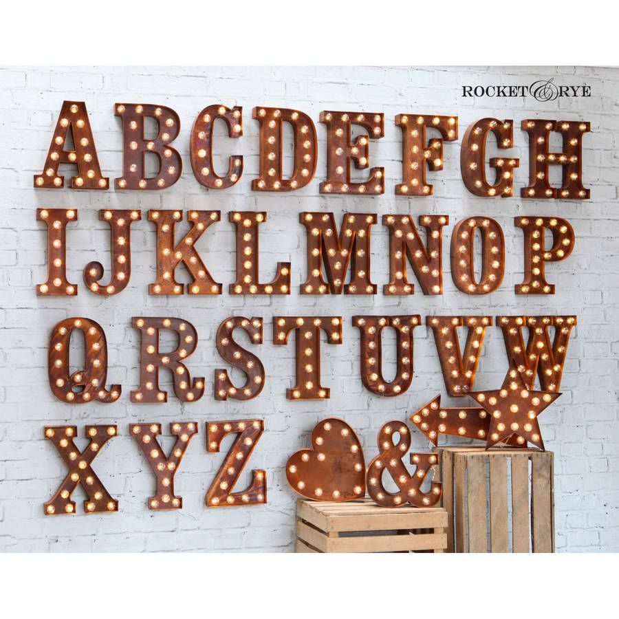 Carnival Letter Lights A To Z Rust