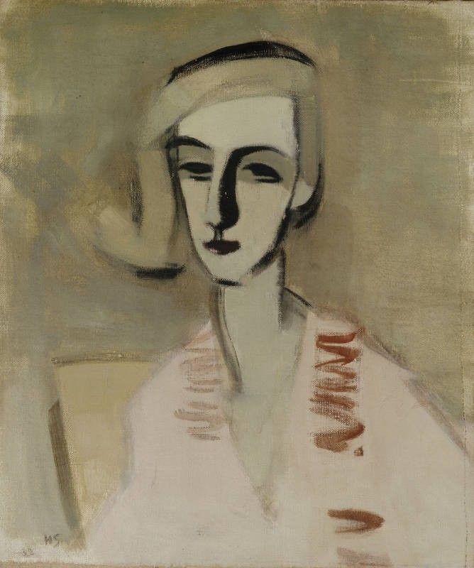 Opettajatar, Schjerfbeck, Helene, taiteilija 1933, Ateneumin taidemuseo Museo Finna