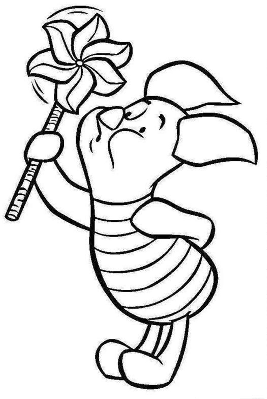 cool Baby Piglet Coloring Pages