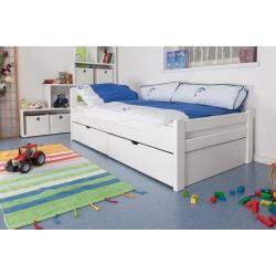 Photo of Kinderbett / Jugendbett Easy Premium Line K1/2n inkl. 2 Schubladen und 2 Abdeckblenden, 90 x 200 cm