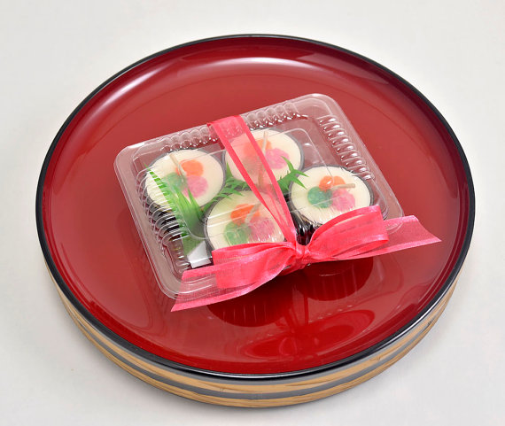 Candle Decoration Faux Food Sushi Tea Light Candles by doublebrush, $12.00