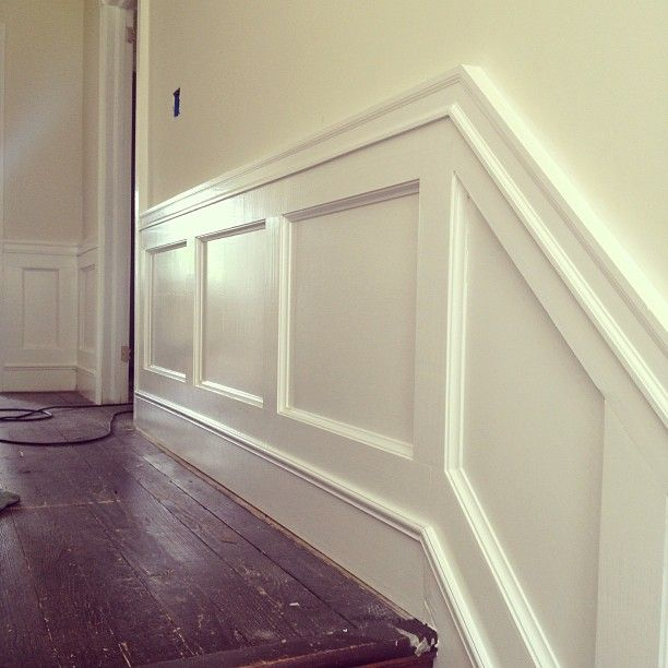 Board And Batten Wainscoting Using A Small Piece Of Trim To Bridge The Gap Between The Original Trim And The Newe Wainscoting Stairs Painting Trim Wainscoting