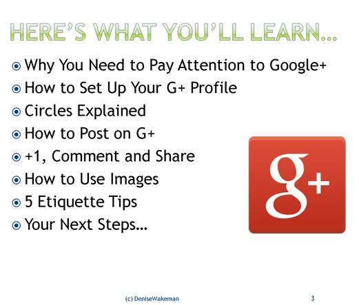 G+ Training Webinar, Marketing tips, Train
