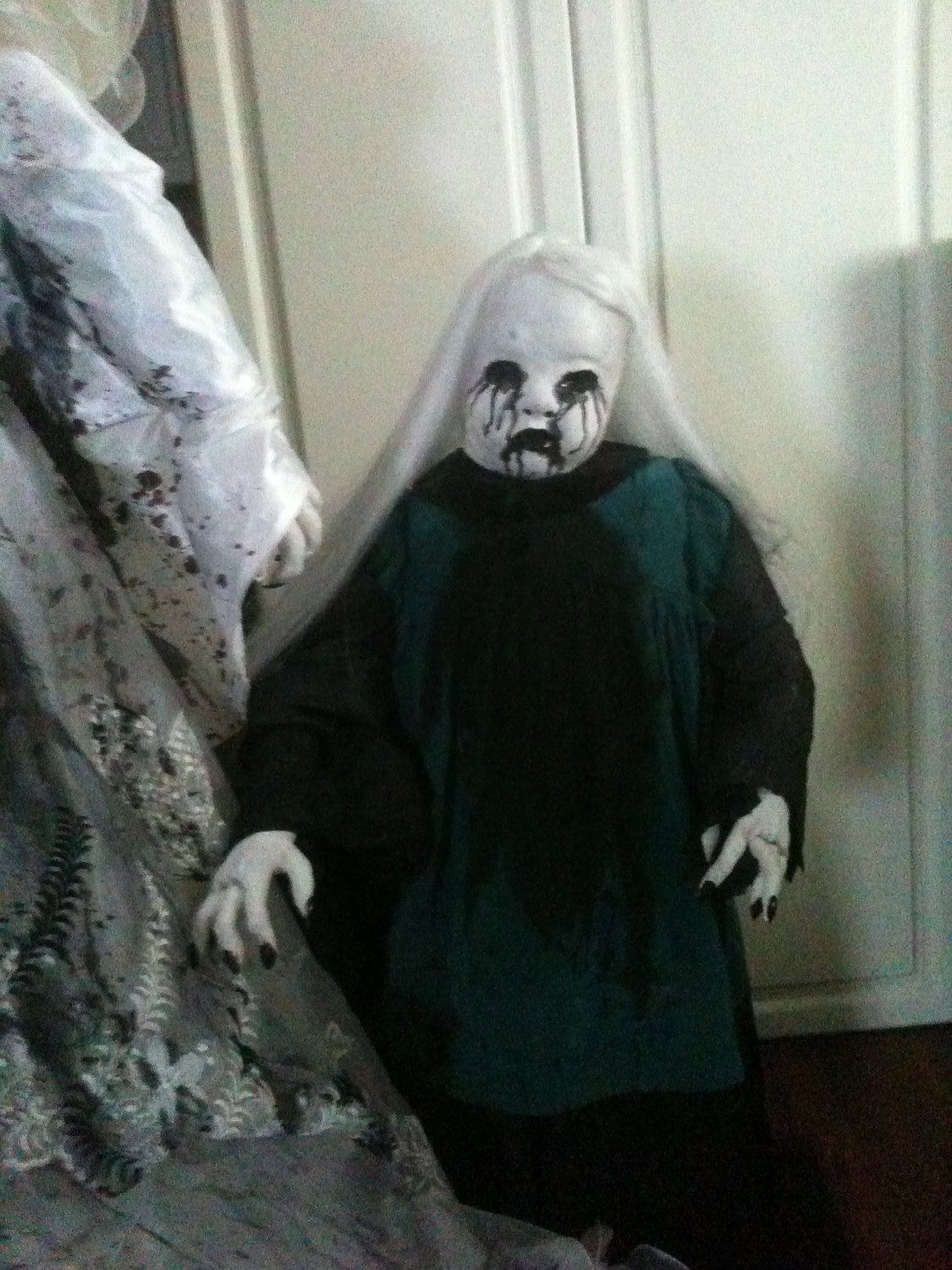 Halloween Prop Creepy Spooky Child Ghost Creepy Doll Face 65 00