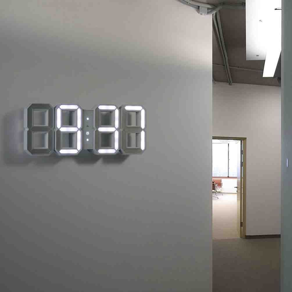 Modern Digital Wall Clock Tech Room Cool Tech Gifts Wall Clock