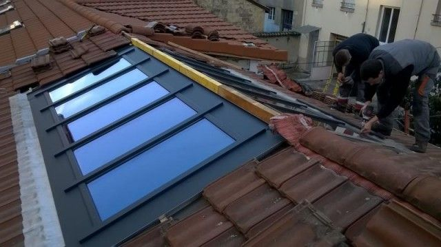 Verrière de toiture à Lyon avec rupture de pont thermique