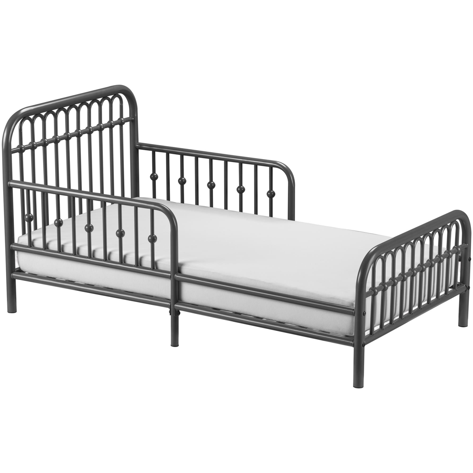 Baby Toddler Bed Grey Bedding Metal Daybed With Trundle