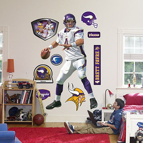 official photos 1f132 ac51d Fathead Minnesota Vikings Brett Favre Wall Graphic - NFLShop ...