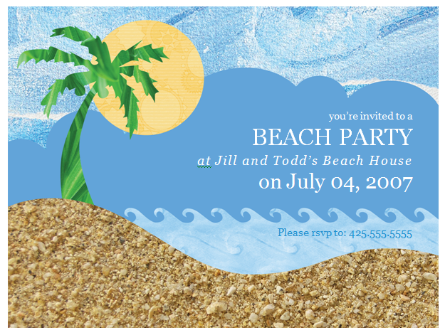 17 Best images about Invitation ideas on Pinterest | Beach party ...