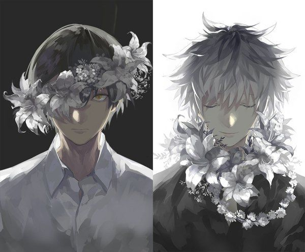Anime Picture 1045x863 With Lor968 Short Hair Looking At Viewer Black Hair Smile Simple Background White In 2020 Tokyo Ghoul Anime Anime Tokyo Ghoul
