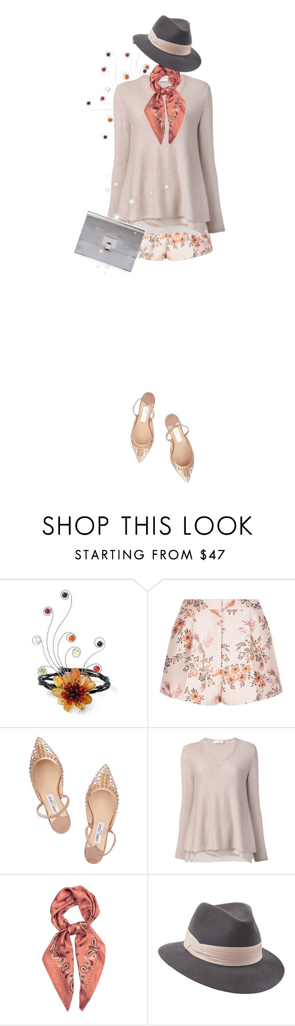 """""""street  style"""" by janemichaud-ipod ❤ liked on Polyvore featuring NOVICA, STELLA McCARTNEY, Jimmy Choo, Brunello Cucinelli, E L L E R Y, Penmayne of London and Proenza Schouler"""