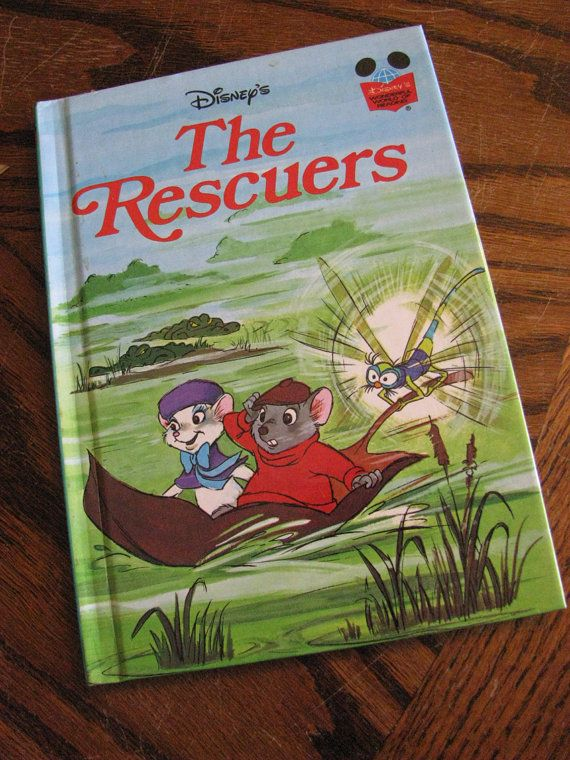 The Rescuers 1977 Classic Disney Hard Cover Excellent Like New