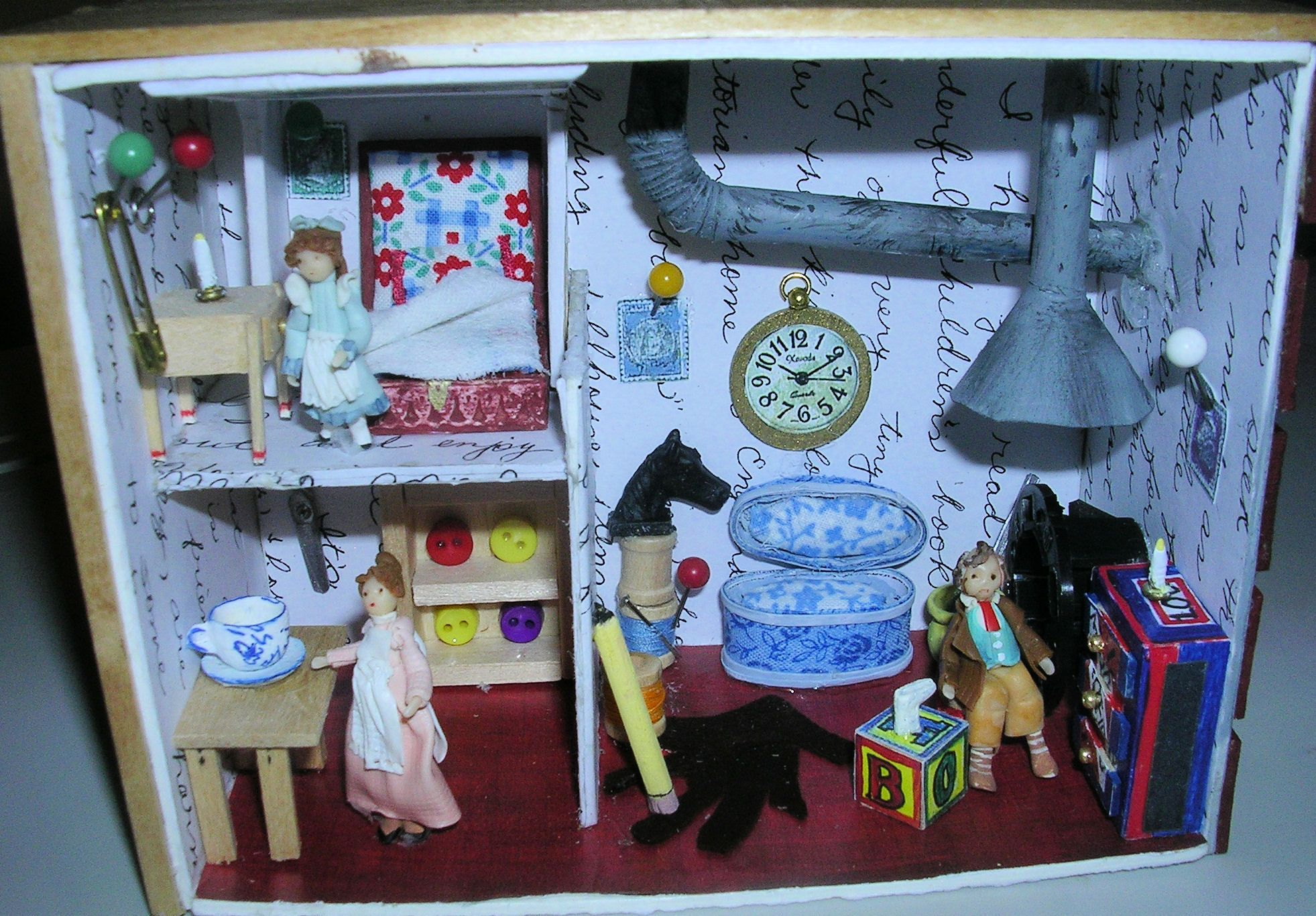Found On Cath Kidston S Fb Page In Her Dream Room In A: The Borrowers Dollhouse Diy
