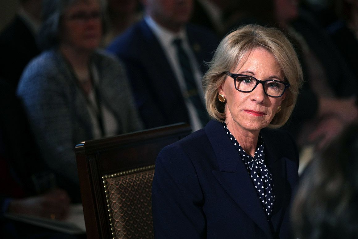 Are Pence And Devos One Two Knock Out >> Betsy Devos Strikes Out In Court Hmmm Betsy Devos Special