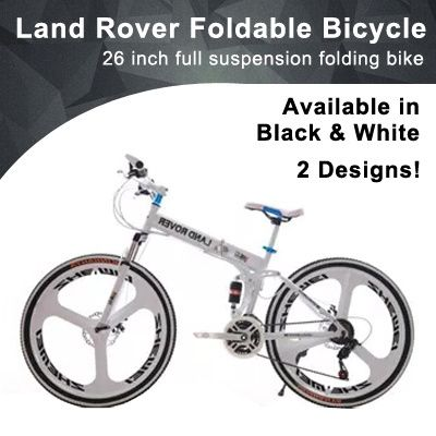 Land Rover Foldable Bicycle 26 Inch Full Suspension Folding Bike High Carbon Steel With 21 Foldable Bicycle Folding Bike Foldables
