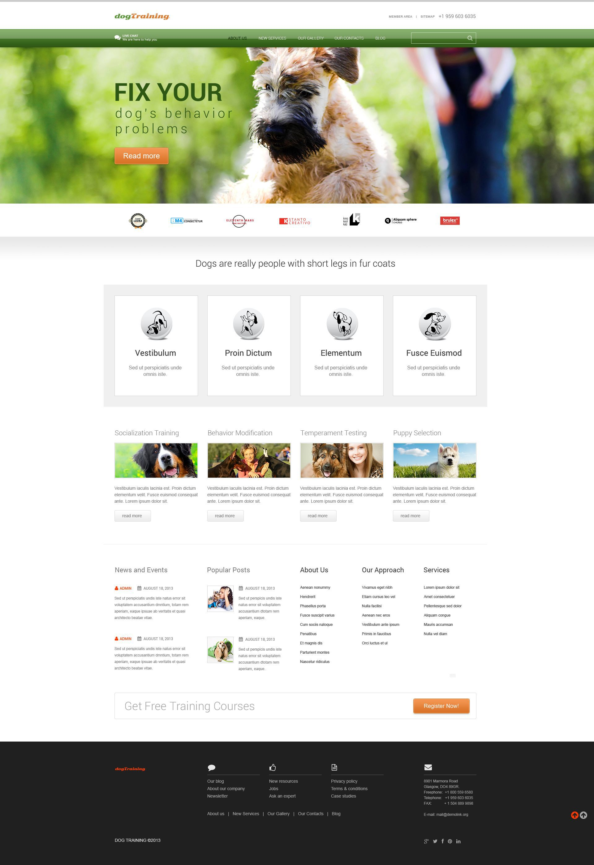 Dog Responsive WordPress Theme | Wordpress