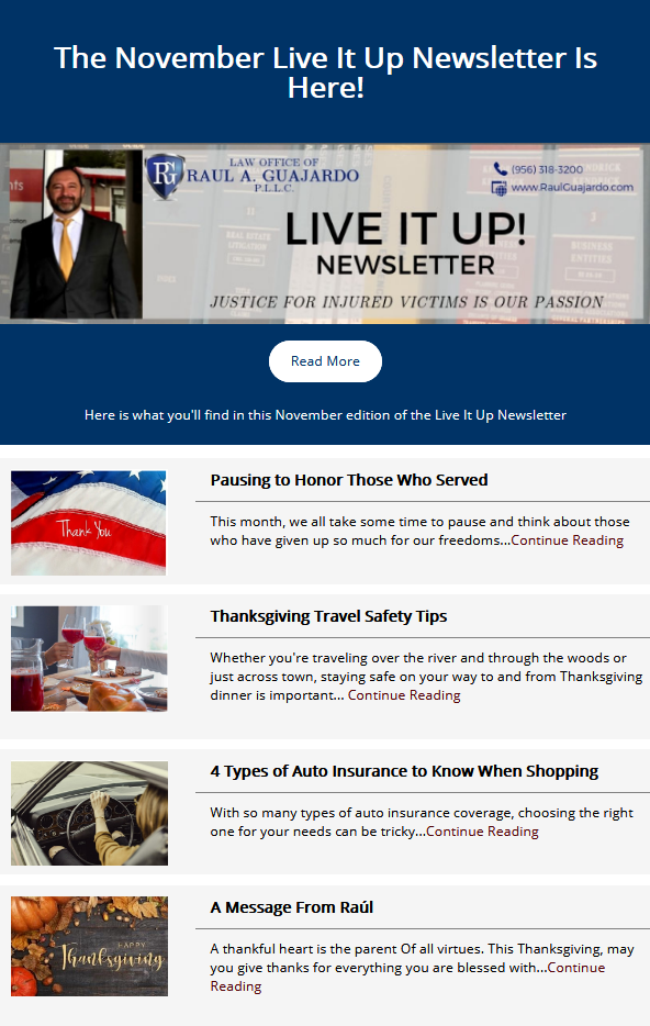 Here is what you'll find in this edition of the Live It Up