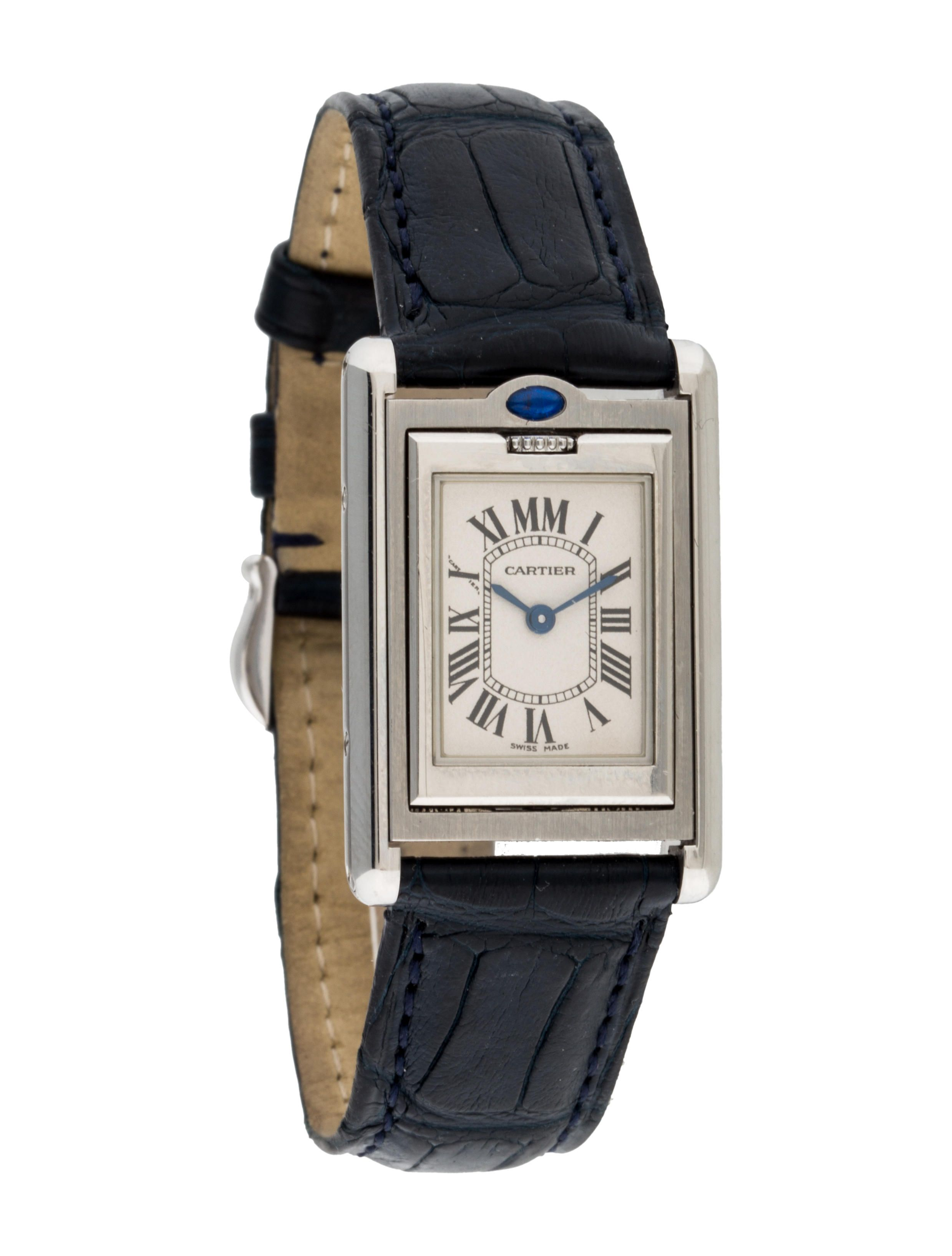 watches small steel ladies silver dial stainless watch tank quartz cartier solo bucherer brands