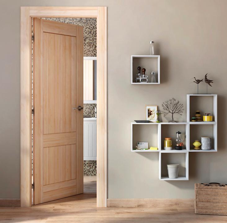 Las puertas en tonos naturales son muy vers tiles y combinan con cualquier tipo de decoraci n - Escaleras interiores leroy merlin ...
