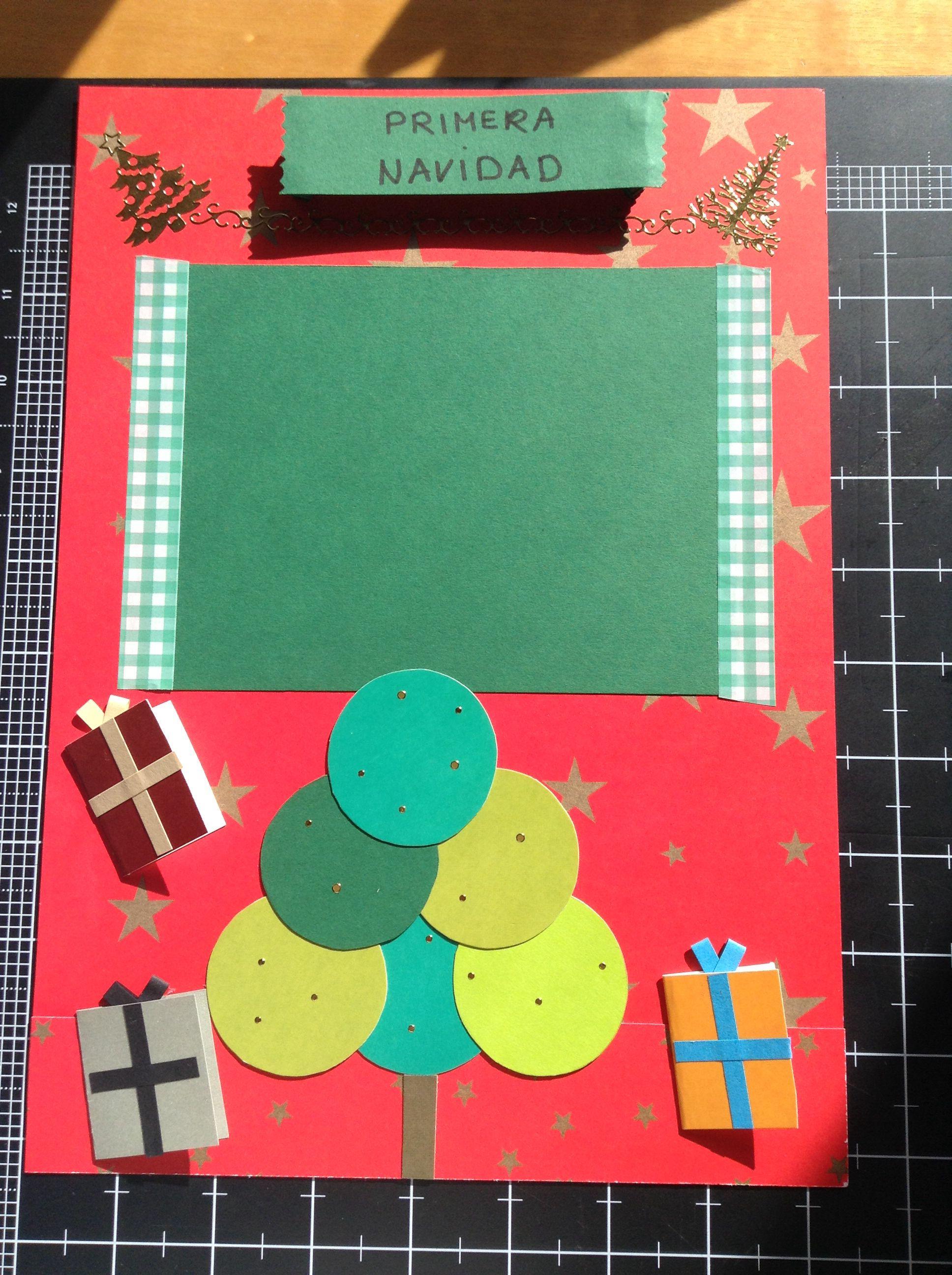 """Página """"Navidad"""" del libro del bebé"""