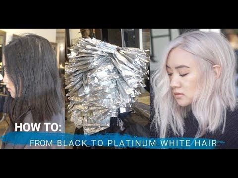 39 How To From Black To Platinum Blonde Hair Transformation Full Foil Technique Youtube Hair Transformation Blonde Hair Transformation Blonde Hair Tips