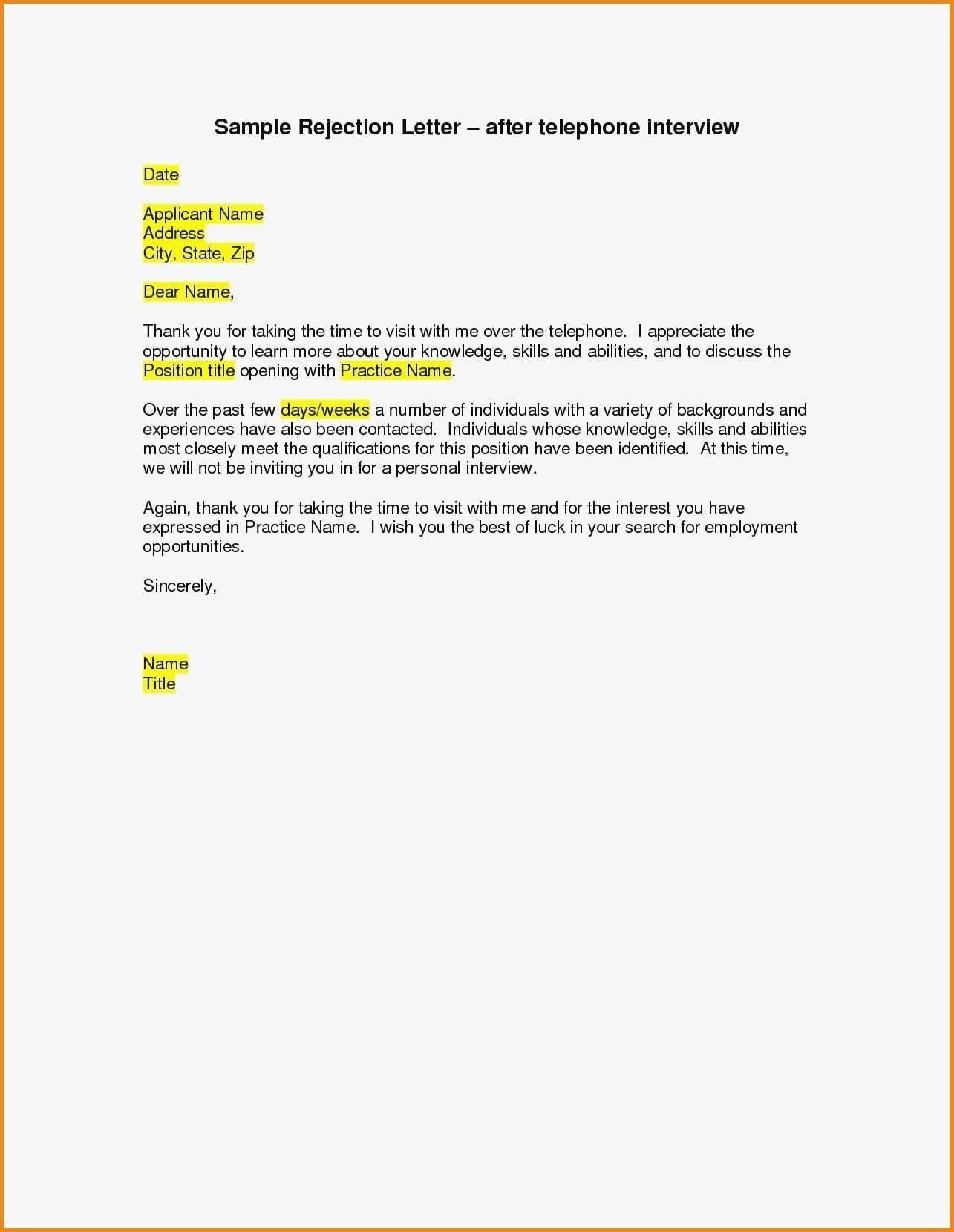 Valid How To Turn Down A Job Interview Sample Letter Telephone