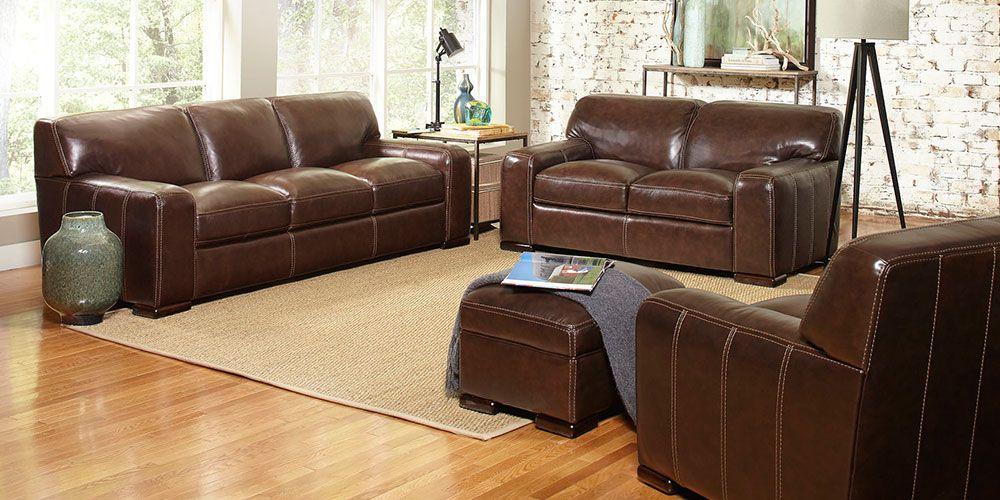 Best Carreyton 4 Piece Top Grain Leather Set Leather Living 400 x 300