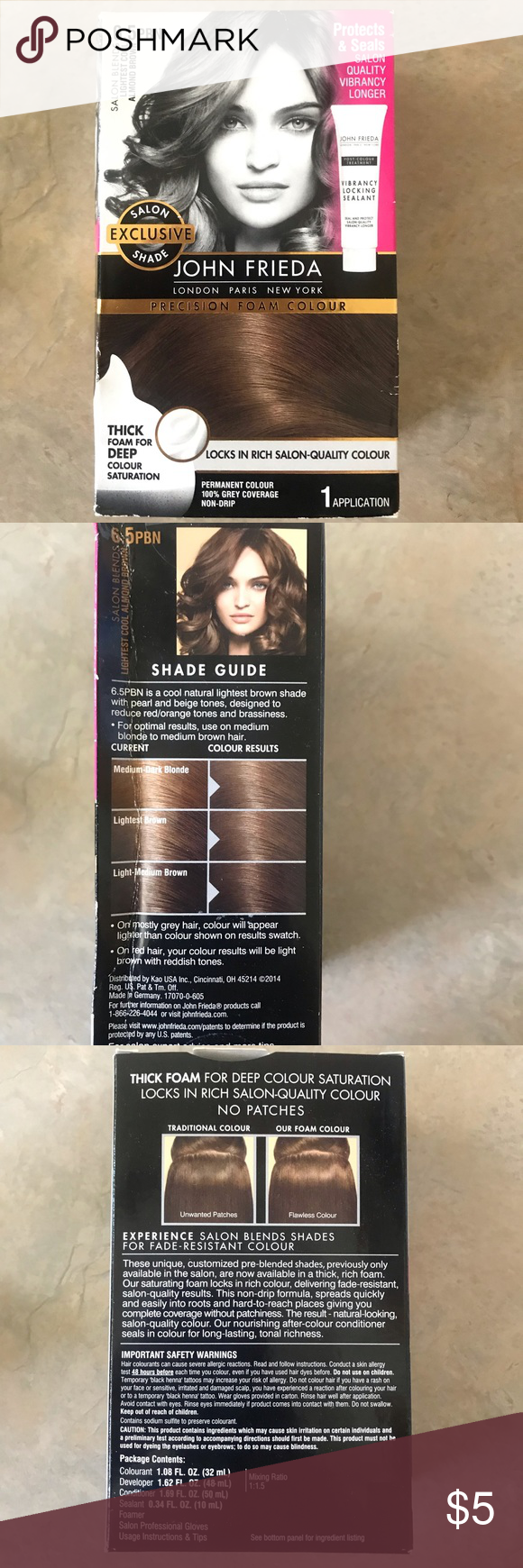 Hair Dye Unopened Box Of Lightest Cool Almond Brown Hair Dye From John Frieda Found It In My Bathroom And I Get My Hair D Brown Hair Dye Dyed Hair John