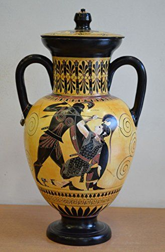 Achilles And Penthesileia Ancient Greek Amphora Vase British