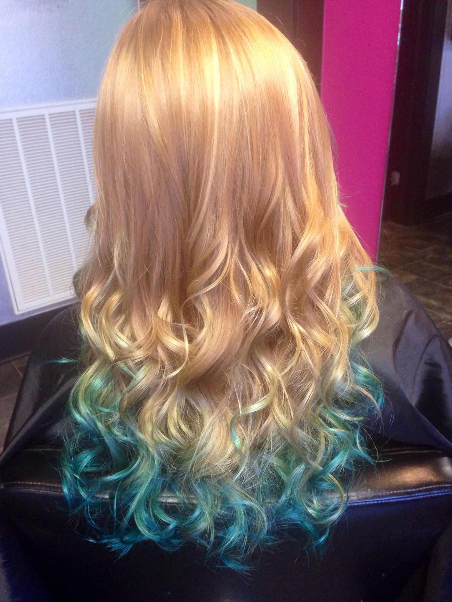 Strawberry Blonde And With Teal Ombre With Images Strawberry