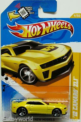 2012 Chevy Camaro Zl1 Hot Wheels 2012 New Models 9 50 Yellow