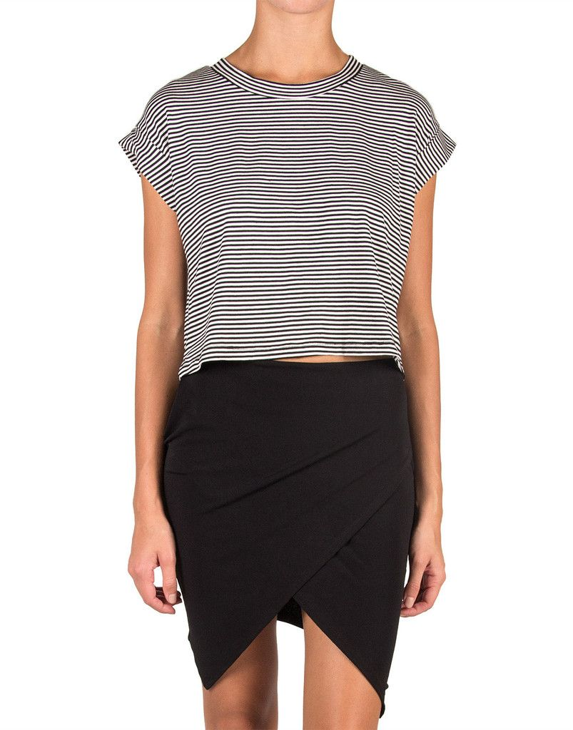 Cut Off Striped Tee – 2020AVE