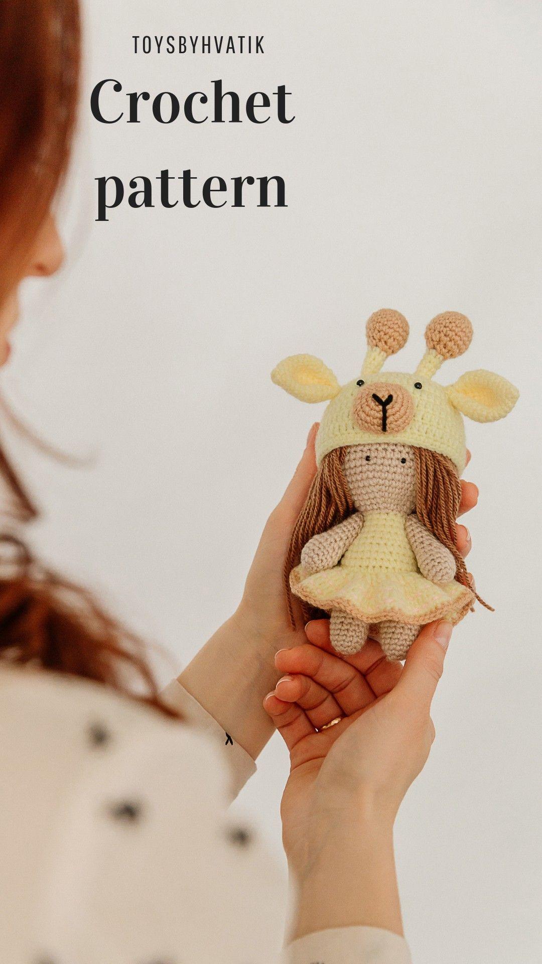 crochet giraffe, amigurumi giraffe, amigurumi pattern, crochet doll #instructionstodollpatterns