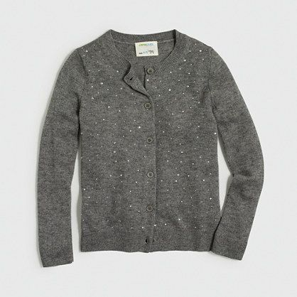 J.Crew Factory - Factory girls' sparkle cardigan sweater | a few ...
