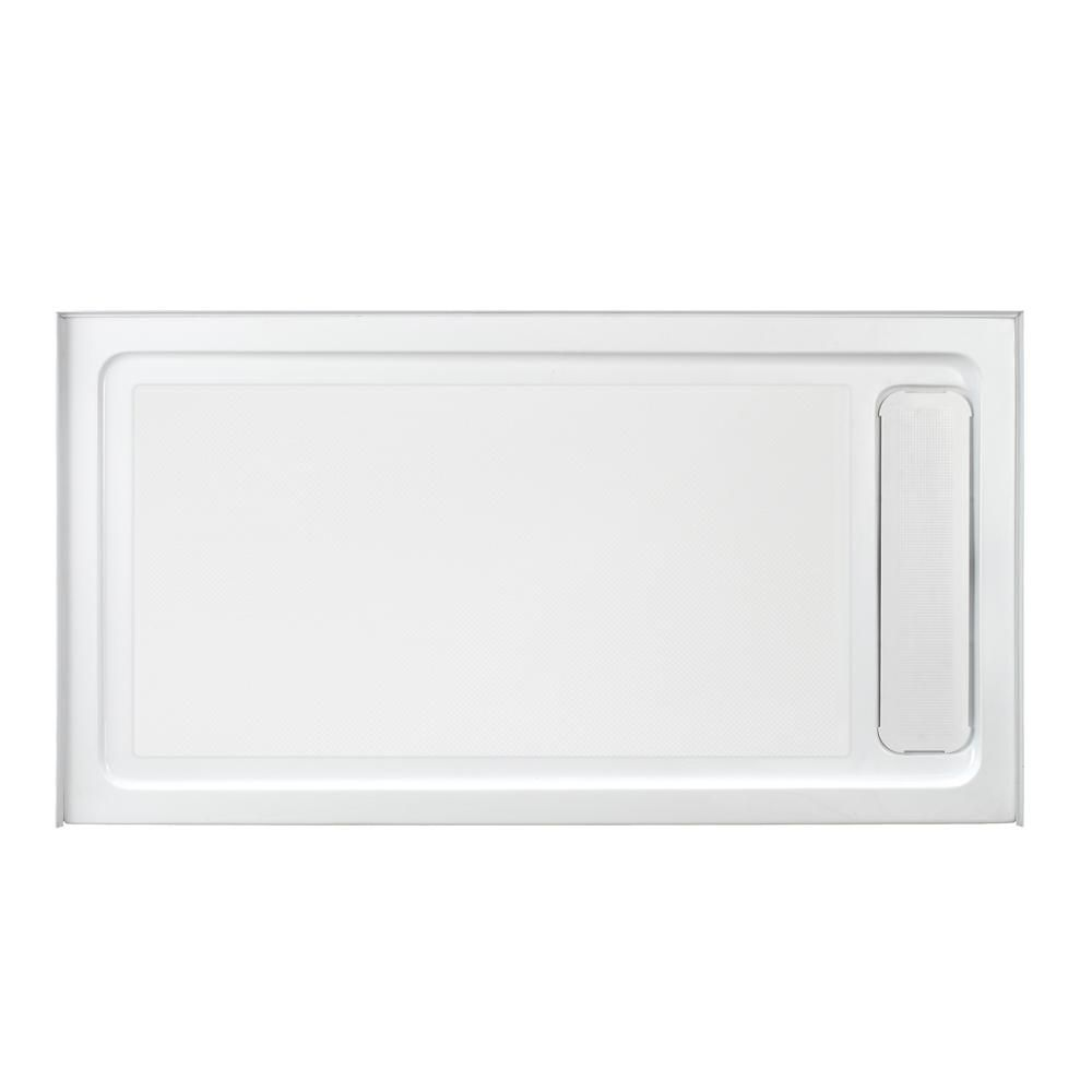Glacier Bay 32 In X 60 In Single Threshold Shower Base With Side Hidden Drain In Glossy White Gbsh118 Acrylic Shower Base Shower Base Shower Pan