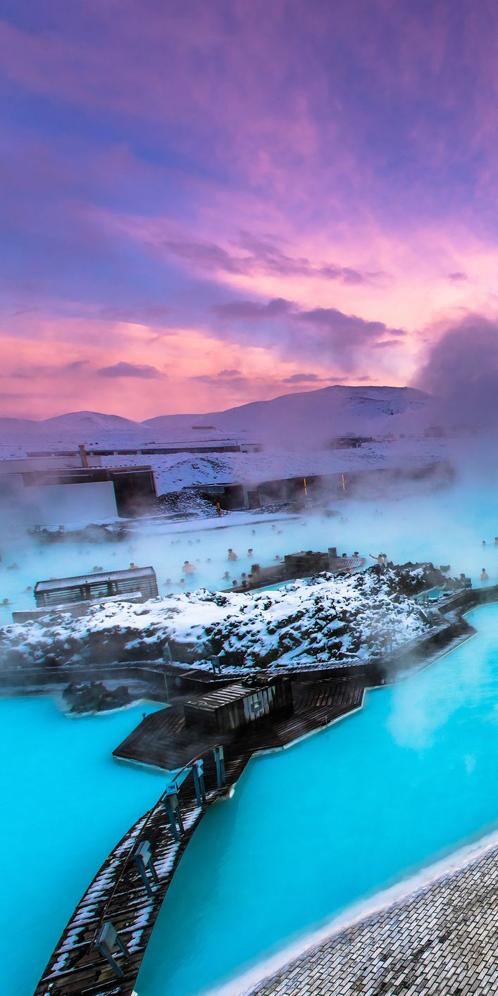Blue Lagoon, Iceland..Blue Lagoon    This geothermal spa offers one of the most relaxing bathing experiences than you can ever have elsewhere. Once can simply not visit Iceland without taking a dip in the waters of Blue Lagoon and relaxing themselves at the spa. You will definitely need this after a full day of hiking.