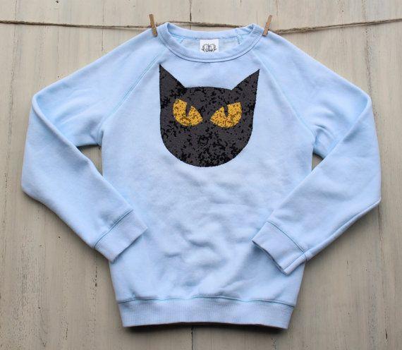 Sequin Cat Patch SweatshirtKitty Cat ShirtCrazy by ICaughtTheSun